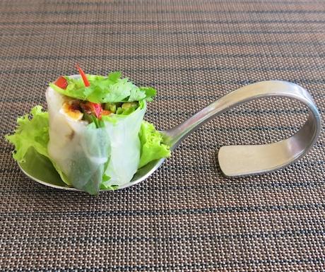 vegan hand rolls for lunch at Sofitel Krabi Phokeethra Resort
