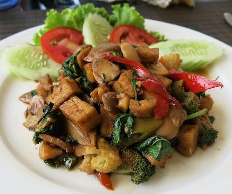 tofu in chilli and basil at Sofitel Krabi Phokeethra Resort