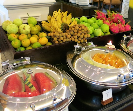 fruit selection at Sofitel Krabi Phokeethra Resort