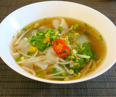 Delicious vegan noodle soup at Sofitel Krabi Phokeethra Resort