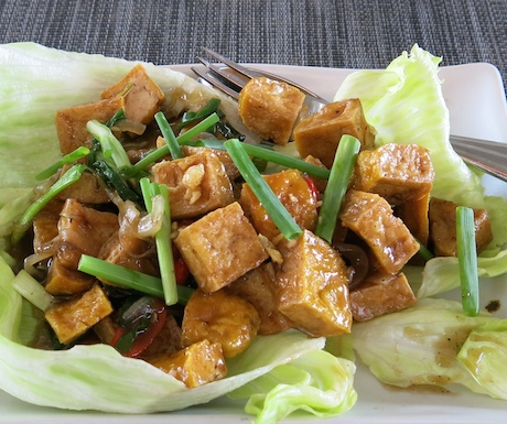 tofu dish at Baba Poolclub in Phuket