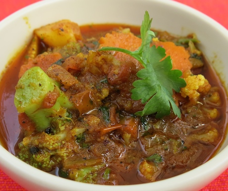 This delicious, rich vegan vegetable curry was one of the highlights of breakfast.