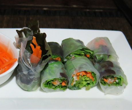 vegan fresh spring rolls at Tubkaak Krabi Boutique Resort