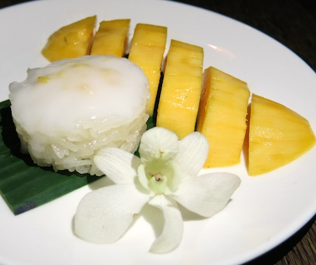 vegan dessert of Mango Sticky Rice at Tubkaak Krabi Boutique Resort