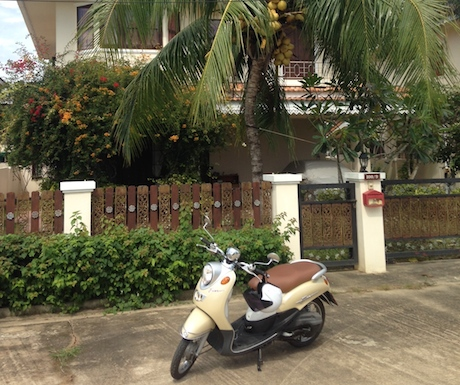 Our 'ride' whilst staying in our friends villa in Trang.