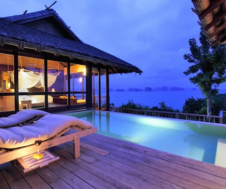 Dramatic sea views from one of the Ocean Villas.