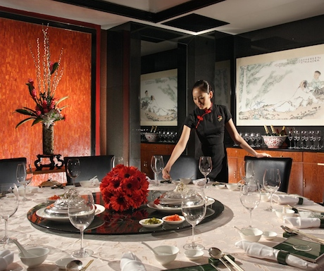 Multi-award winning Li  Bai restaurant is renowned in Singapore for serving exquisite Cantonese food.