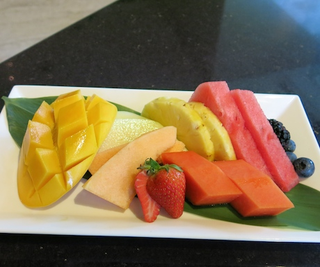 fruit platter at Sheraton Towers Singapore