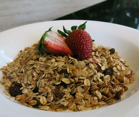 Vegan granola at Sheraton Towers Singapore