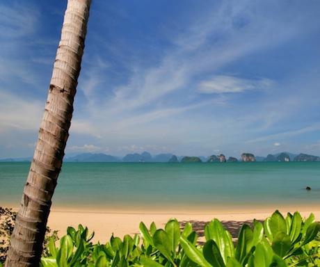 private beach at Six Senses Yao Noi