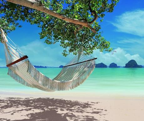 hammock on the beautiful beach at Tubkaak Krabi Boutique Resort
