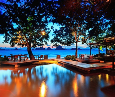 The Tubkaak Krabi Boutique Resort is a special place to watch the sunset.
