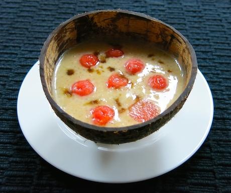 vegan coconut sago pudding