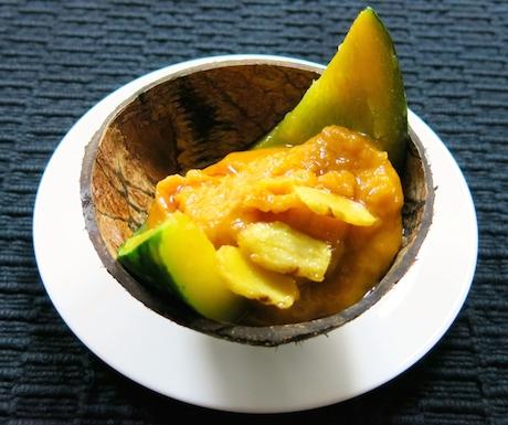 ginger and pumpkin vegan dessert at Anilana Nilaveli