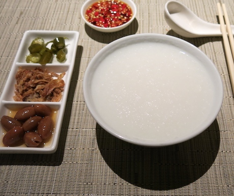 vegan congee at Four Seasons Singapore
