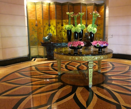 stunning floral displays at Four Seasons Singapore