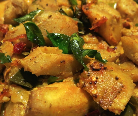 Rich plantain curry full of spices