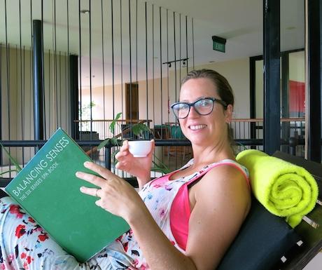 relaxing in the Six Senses Spa at Heritance Kandalama