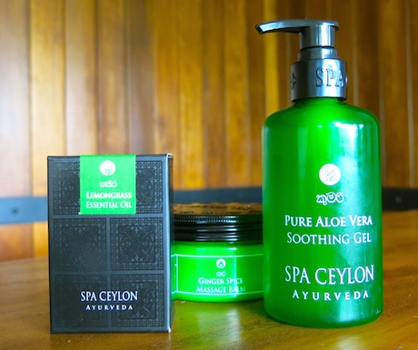 Natural and locally made vegan products in the spa