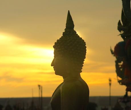 Beautiful sunset in Trang.