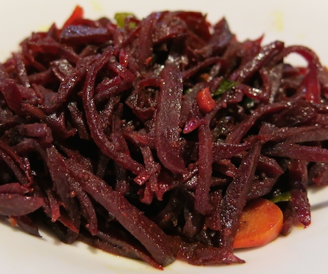 'Tempered beetroot' flavoured with curry leaves and mustard seeds - definitely one to try.