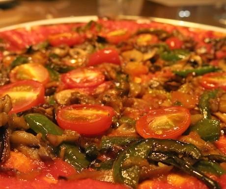 vegan pizza at Renaissance Johor Bahru
