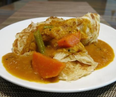 vegan roti at Renaissance Johor Bahru