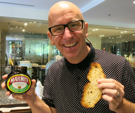 PICTURE OF PAUL WITH MARMITE OR JUST PICTURE OF MARMITE