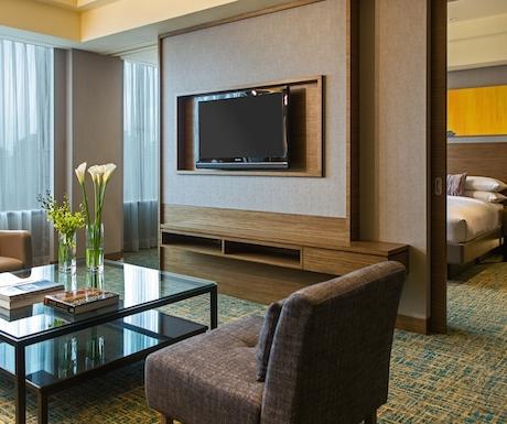 Modern junior suite at the Ranaissance Johor Bahru