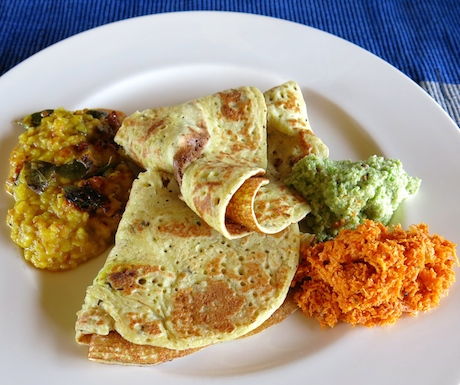 Love sri Lankan dosai which are soft and spongy with a great flavour from teh fermented rice batter.