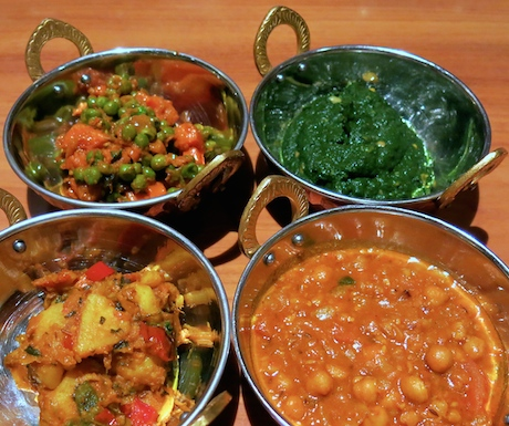 A selection of tasty curries always makes us happy.
