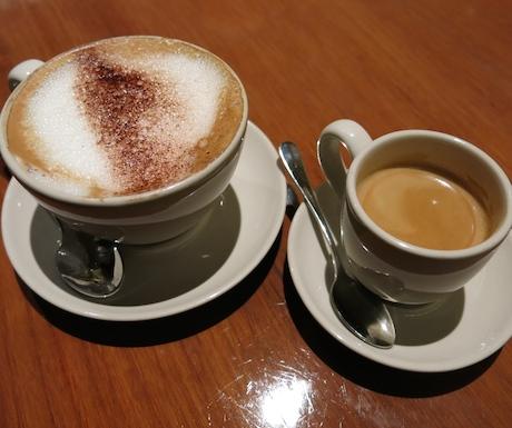 Espresso and soya milk cappuccino at Grand Hyatt Singapore