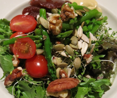 Healthy alfalfa sprouts, seeds and nuts salad at Grand Hyatt Singapore