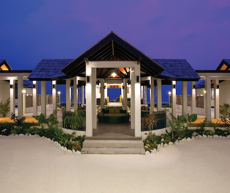 The serene and relaxing Balinese spa at Atmosphere Kanifushi.