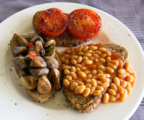 Or if you're missing home what better than a vegan 'Full English' breakfast.