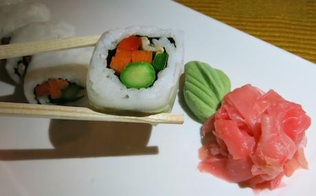 Vegan sushi at Tepinyaki Grill.