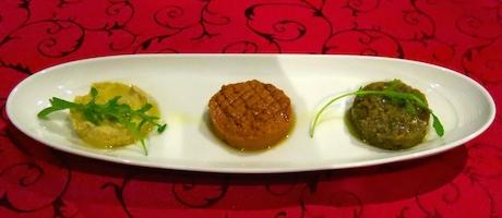 Vegan mezze platter to start our meal at 'Sunset'.