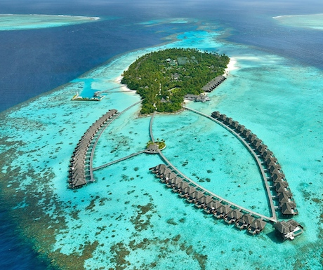 lariel view of luxury resort Ayada Maldives