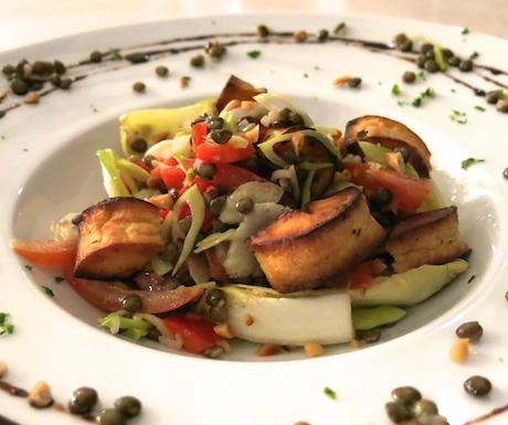 Puy Lentil Salad with Parsnip, Pine Nuts and Lemon Dressing at Ayada Maldives