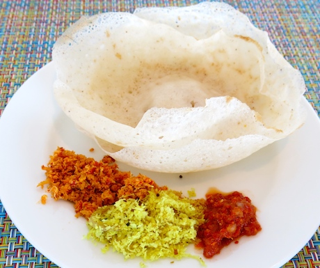 Sri Lankan hoppers for breakfast at Cinnamon Red