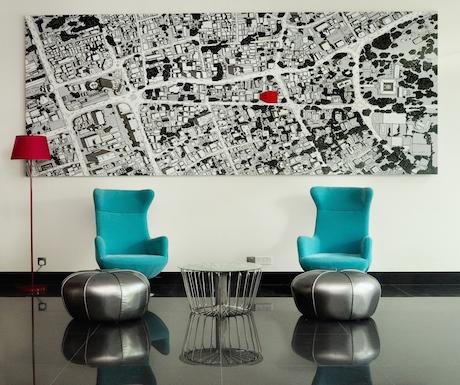 minimalist and modern furniture at Cinnamon Red
