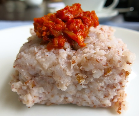 kiribath milk rice made with coconut milk and red rice at Jetwing Beach