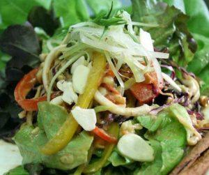 Raw vegan salad at Ariya in Bangkok