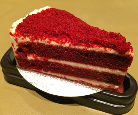 vegan red velvet cake at Veganerie in Bangkok