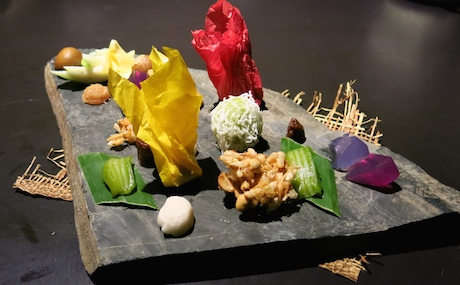 Our delicious platter of desserts at Bo.lan.