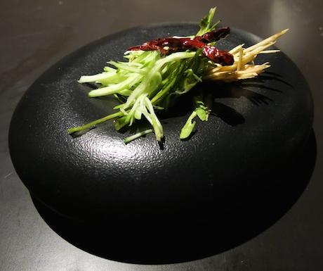The salad...