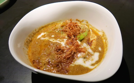 'Isaan Style Curry of Local Vegetables' - So rich with coconut, sweet, spicy and creamy yet bursting with flavour from the fresh curry paste made with coriander seeds, cumin, nutmeg and cinnamon alongside regular Thai spices.