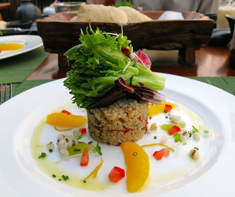 Quinoa and barley salad at Terraces