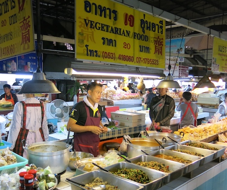 Thanin Market even had it's own vegetarian food stall!