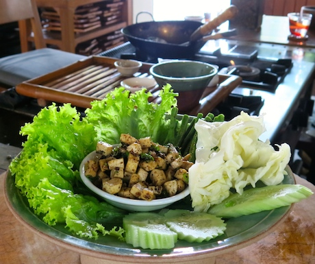 Our Northern Thai Larb Tofu.